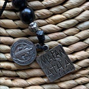Jewelry - Beautiful Black beaded religious Maranatha charm
